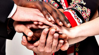 People of different nationalities.The concept of friendship, communication, teamwork. immigration;
